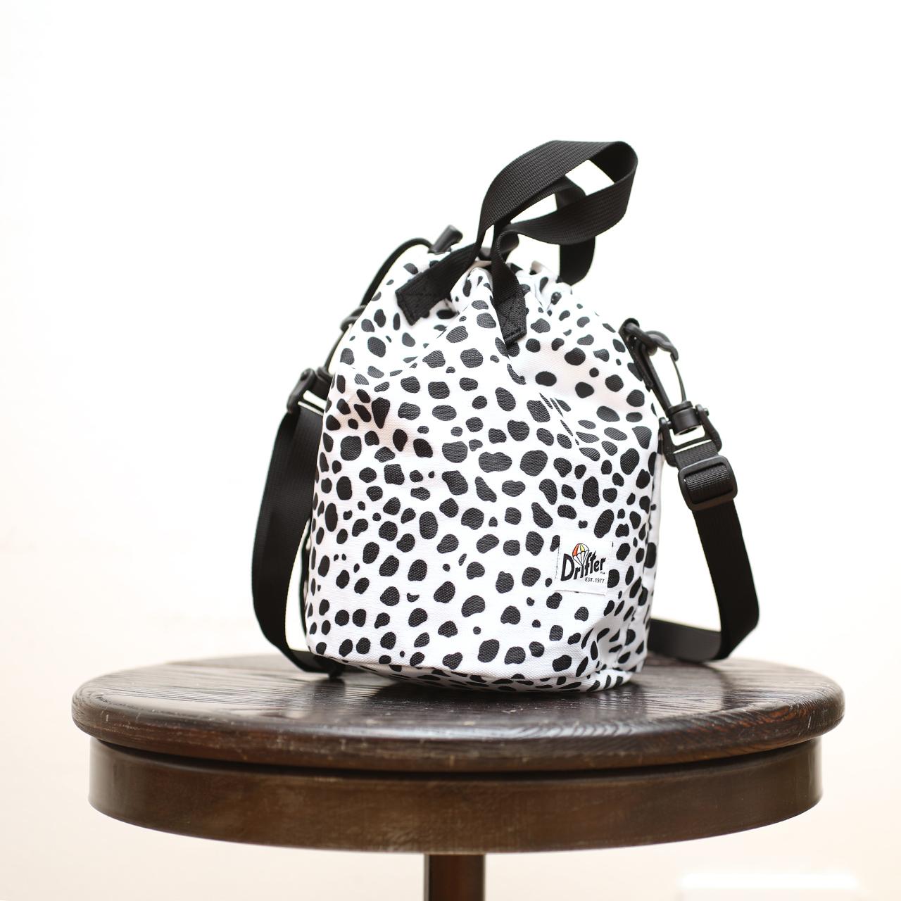drifter_drawstring pouch dalmatian